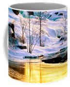 Maine Winter Along The Androscoggin River Coffee Mug