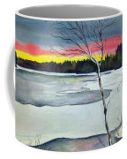 Maine Winter Sunset Coffee Mug