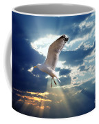 Majestic Bird Against Sunset Sky Coffee Mug