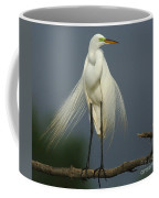 Majestic Great Egret Coffee Mug