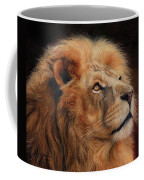 Majestic Lion Coffee Mug by David Stribbling