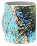 Majestic Pine Tree Abstract Coffee Mug