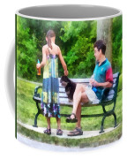 Making A New Friend In The Park Coffee Mug