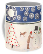Making A Snowman At Christmas Coffee Mug by Patrick J Murphy