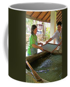 Making Paper Using Mulberry Tree Pulp At Boring Paper Factory In Chiand Mai-thailand Coffee Mug