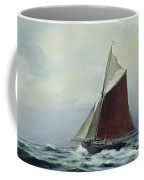 Making Sail After A Blow Coffee Mug by Vic Trevett