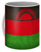 Malawi Flag Vintage Distressed Finish Coffee Mug