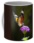 Malay Lacewing On A Flower  Coffee Mug