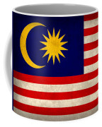 Malaysia Flag Vintage Distressed Finish Coffee Mug