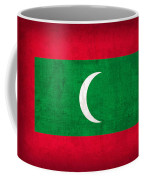 Maldives Flag Vintage Distressed Finish Coffee Mug