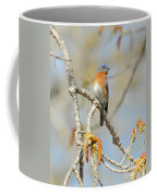 Male Bluebird In Budding Tree Coffee Mug