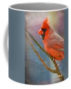 Male Cardinal - Colorful Perch Coffee Mug
