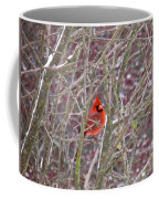 Male Cardinal Cold Day 2 Coffee Mug