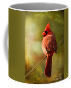 Male Cardinal In The Sun - Digital Paint Coffee Mug