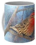 Male Housefinch Close View Coffee Mug