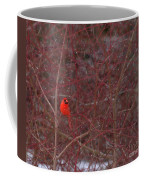 Male Red Cardinal In The Snow Coffee Mug