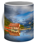 Maligne Boat House Coffee Mug