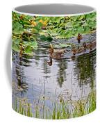 Mallard Ducks In Heron Pond In Grand Teton National Park-wyoming  Coffee Mug