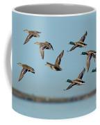 Mallard Flock Flying Coffee Mug