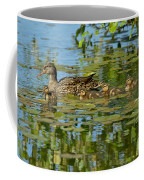 Mallard Mom And The Kids Coffee Mug