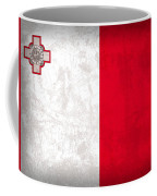 Malta Flag Vintage Distressed Finish Coffee Mug