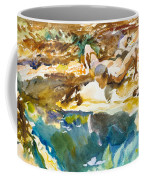 Man And Pool. Florida Coffee Mug