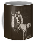 Man And White Dog In New Orleans Coffee Mug