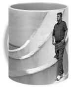 Man At Conrcete Structure Coffee Mug