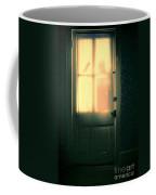 Man At Door With Cleaver Coffee Mug