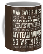 Man Cave Rules 1 Coffee Mug