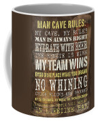 Man Cave Rules 2 Coffee Mug by Debbie DeWitt