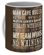 Man Cave Rules Square Coffee Mug