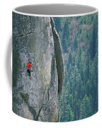 Man Climbing On A Big Granite Spire Coffee Mug