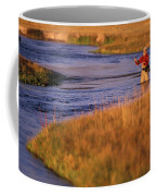 Man Fly Fishing On The Owens River Coffee Mug