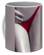 Man Hand On Sexy Woman Body With Red Thong Coffee Mug