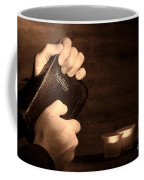 Man Hands And Bible Coffee Mug