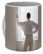 Man In Historical Shirt At The Window Coffee Mug