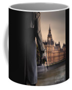 Man In Trenchcoat With A Gun In London Coffee Mug