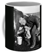 Man Milking Cow Coffee Mug