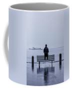 Man On Bench Coffee Mug
