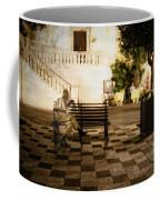 Man On The Bench Coffee Mug