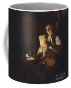 Man Reading By Candlelight Coffee Mug