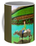 Man Riding A Carabao Coffee Mug