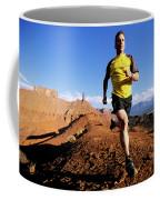 Man Running In Moab, Utah Coffee Mug