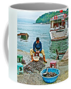 Man Selling Fresh Mussels On The Bosporus In Istanbul-turkey  Coffee Mug
