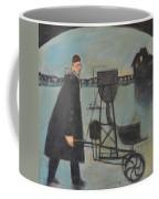 Man Walking Machine On Beach Coffee Mug