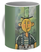 Man With Fancy Hat And Suspenders Coffee Mug