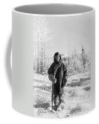 Man With Parka And Snowshoes Coffee Mug