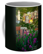 Manarola Flowers And Houses Coffee Mug