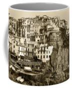 Manarola Italy Sepia Coffee Mug